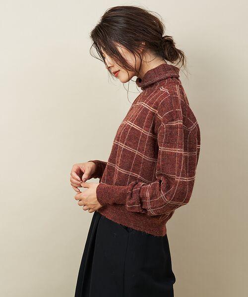 qualite / カリテ ニット・セーター | チェックモヘアニットプルオーバー | 詳細6