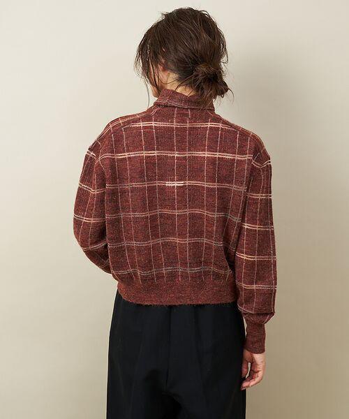 qualite / カリテ ニット・セーター | チェックモヘアニットプルオーバー | 詳細7