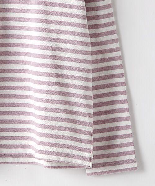 Rag Mart / ラグマート カットソー | 先染めボーダーフリルリボン長袖Tシャツ | 詳細4