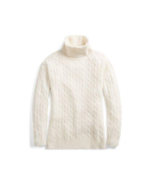 POLO RALPH LAUREN / ポロ ラルフ ローレン ニット・セーター | スリット ケーブル タートルネック セーター | 詳細1