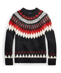ジオメトリック ウールブレンド セーター