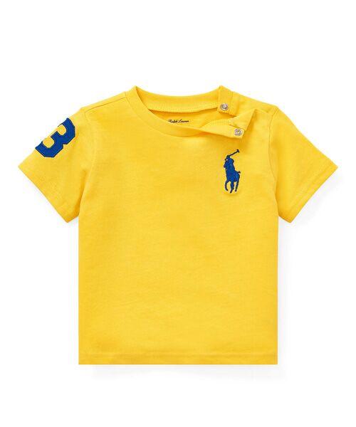 POLO RALPH LAUREN / ポロ ラルフ ローレン Tシャツ | (ベビー)Big Pony コットン ジャージー Tシャツ(E95イエロー)