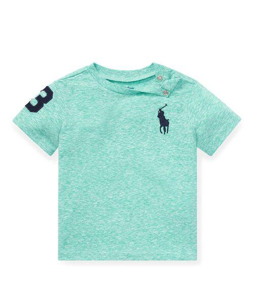 POLO RALPH LAUREN / ポロ ラルフ ローレン Tシャツ | (ベビー)Big Pony コットン ジャージー Tシャツ(D08グリーン)