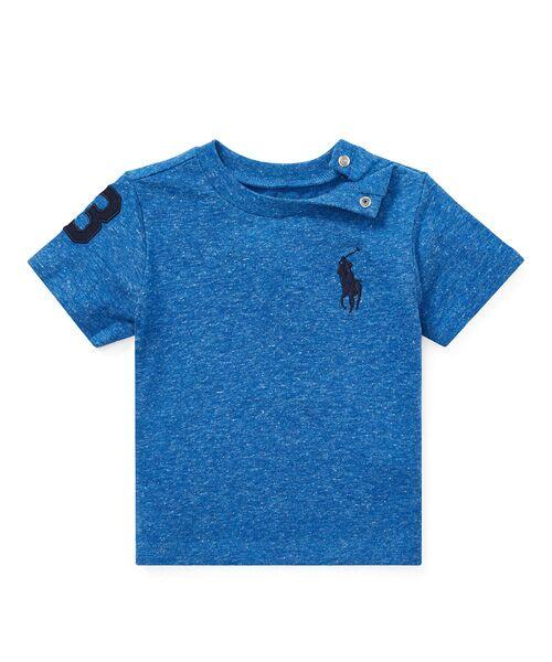 POLO RALPH LAUREN / ポロ ラルフ ローレン Tシャツ | (ベビー)Big Pony コットン ジャージー Tシャツ(B36ブルー)
