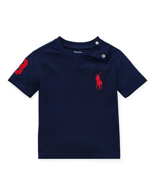 POLO RALPH LAUREN / ポロ ラルフ ローレン Tシャツ | (ベビー)Big Pony コットン ジャージー Tシャツ(B82ネイビー)