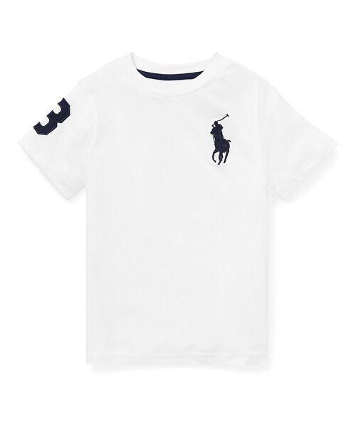 POLO RALPH LAUREN / ポロ ラルフ ローレン Tシャツ | (ボーイズ 2才~4才)Big Pony コットン ジャージー Tシャツ(E86ホワイト)