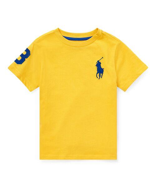 POLO RALPH LAUREN / ポロ ラルフ ローレン Tシャツ | (ボーイズ 2才~4才)Big Pony コットン ジャージー Tシャツ(E95イエロー)