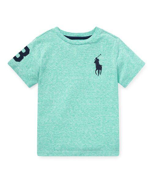 POLO RALPH LAUREN / ポロ ラルフ ローレン Tシャツ | (ボーイズ 2才~4才)Big Pony コットン ジャージー Tシャツ(D08グリーン)