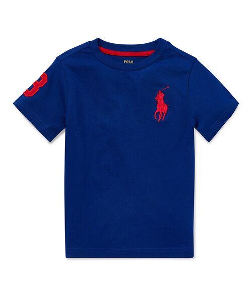 POLO RALPH LAUREN / ポロ ラルフ ローレン Tシャツ | (ボーイズ 2才~4才)Big Pony コットン ジャージー Tシャツ(B28ブルー)