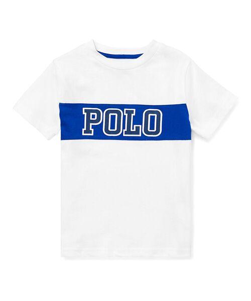 POLO RALPH LAUREN / ポロ ラルフ ローレン Tシャツ | (ボーイズ 2才~4才)コットンジャージー グラフィック Tシャツ(E86ホワイト)