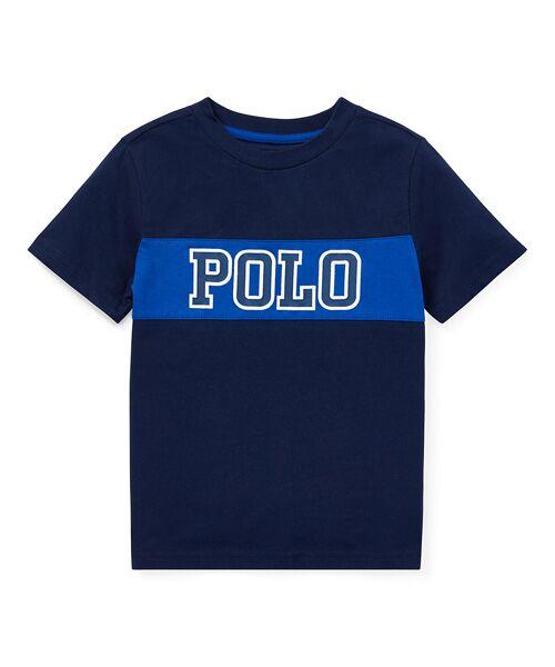 POLO RALPH LAUREN / ポロ ラルフ ローレン Tシャツ | (ボーイズ 2才~4才)コットンジャージー グラフィック Tシャツ(B82ネイビー)