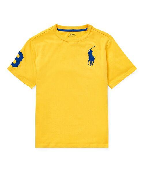 POLO RALPH LAUREN / ポロ ラルフ ローレン Tシャツ   (ボーイズ 8才~20才)コットン ジャージー クルーネック Tシャツ(E95イエロー)