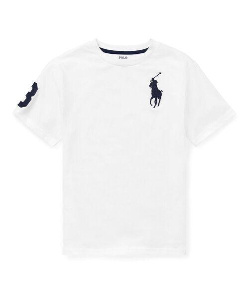 POLO RALPH LAUREN / ポロ ラルフ ローレン Tシャツ   (ボーイズ 8才~20才)コットン ジャージー クルーネック Tシャツ(E86ホワイト)