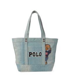 キャンバス Polo ベア トートバッグ