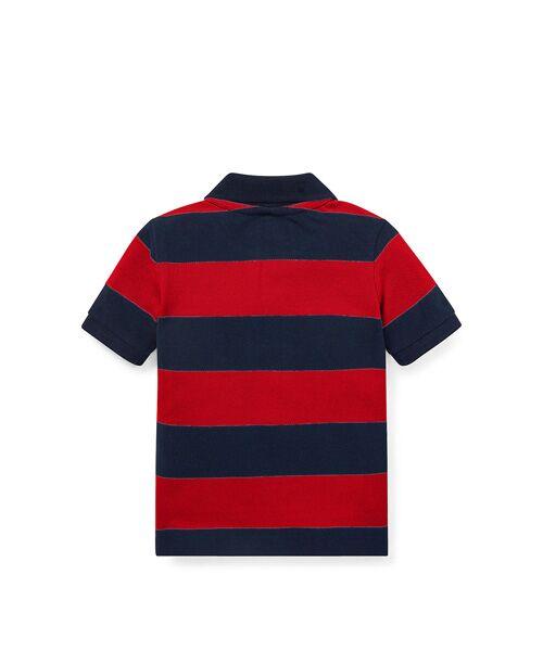 POLO RALPH LAUREN / ポロ ラルフ ローレン ポロシャツ | (ベビー)ストライプド コットン メッシュ ポロシャツ | 詳細1