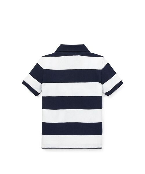 POLO RALPH LAUREN / ポロ ラルフ ローレン ポロシャツ | (ベビー)ストライプド コットン メッシュ ポロシャツ | 詳細3