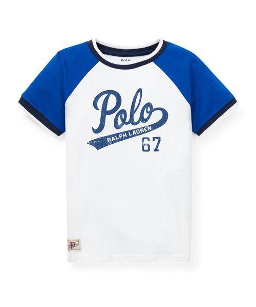 POLO RALPH LAUREN / ポロ ラルフ ローレン Tシャツ   (ボーイズ 2才~4才)コットン ジャージー グラフィック Tシャツ(E86ホワイト)