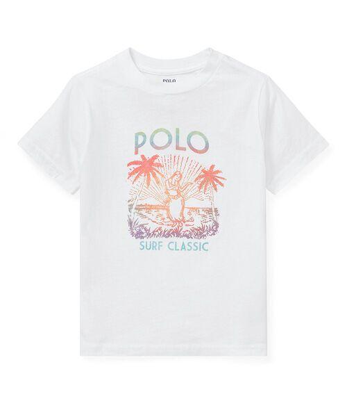 POLO RALPH LAUREN / ポロ ラルフ ローレン Tシャツ | (ボーイズ 2才~4才)コットン ジャージー グラフィック Tシャツ(E86ホワイト)