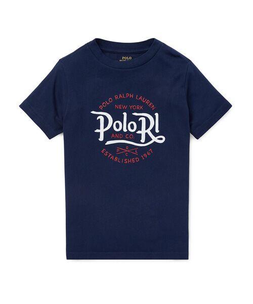 POLO RALPH LAUREN / ポロ ラルフ ローレン Tシャツ | (ボーイズ 2才~4才)コットン ジャージー グラフィック Tシャツ(B82ネイビー)