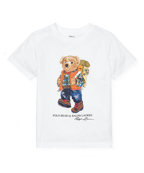 POLO RALPH LAUREN / ポロ ラルフ ローレン Tシャツ | (ボーイズ 2才~4才)キャンピング ベア コットン Tシャツ(E86ホワイト)