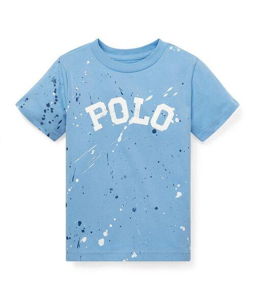 POLO RALPH LAUREN / ポロ ラルフ ローレン Tシャツ | (ボーイズ 2才~4才)ペイントスプラッター コットン Tシャツ(B28ブルー)