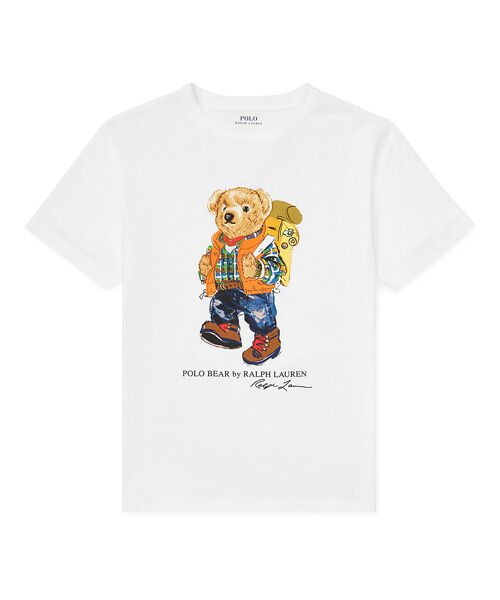 POLO RALPH LAUREN / ポロ ラルフ ローレン Tシャツ | (ボーイズ 8才~20才)キャンピング ベア コットン Tシャツ(E86ホワイト)