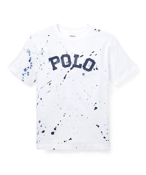 POLO RALPH LAUREN / ポロ ラルフ ローレン Tシャツ | (ボーイズ 8才~20才)ペイントスプラッター コットン Tシャツ(E86ホワイト)