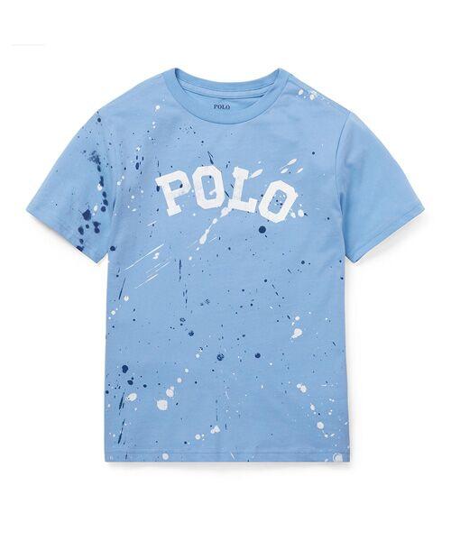 POLO RALPH LAUREN / ポロ ラルフ ローレン Tシャツ | (ボーイズ 8才~20才)ペイントスプラッター コットン Tシャツ(B28ブルー)
