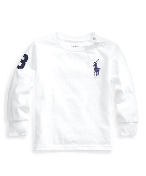 POLO RALPH LAUREN / ポロ ラルフ ローレン カットソー   コットン ジャージー Tシャツ(E86ホワイト)