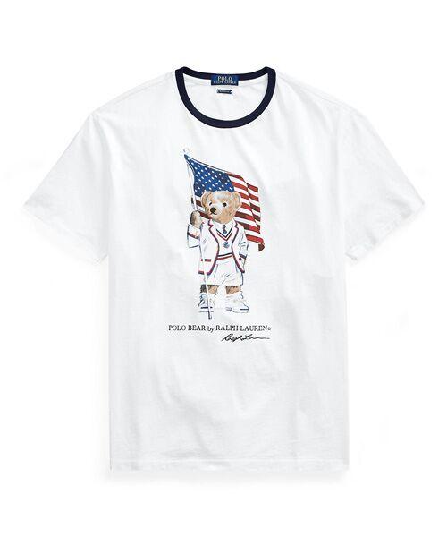 POLO RALPH LAUREN / ポロ ラルフ ローレン Tシャツ | カスタム スリムフィット Polo ベア Tシャツ(E92ホワイト)