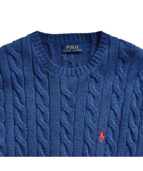 POLO RALPH LAUREN / ポロ ラルフ ローレン ニット・セーター | ケーブルニット コットン セーター | 詳細4