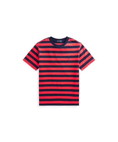 POLO RALPH LAUREN / ポロ ラルフ ローレン Tシャツ   (ボーイズ 8才~20才)ストライプド コットン ジャージー Tシャツ(600レッド)