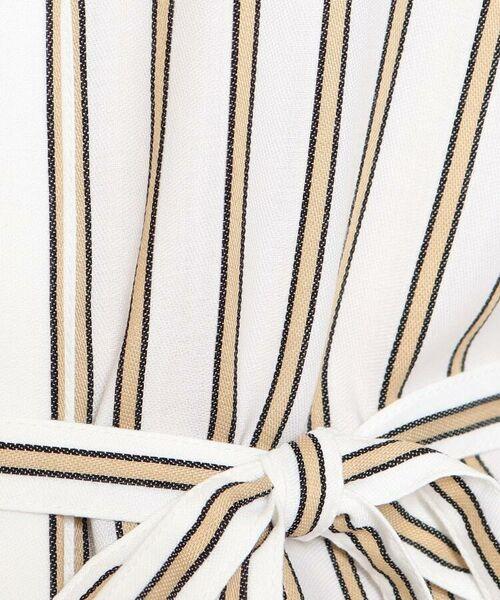 Reflect / リフレクト その他トップス | 【洗える】ベルト付きストライプシャツ | 詳細15