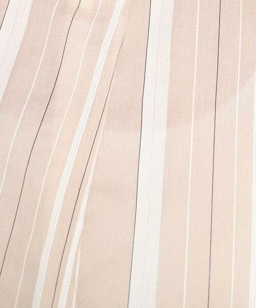 Reflect / リフレクト シャツ・ブラウス   【WEB限定カラーあり】シアーストライプブラウス   詳細2