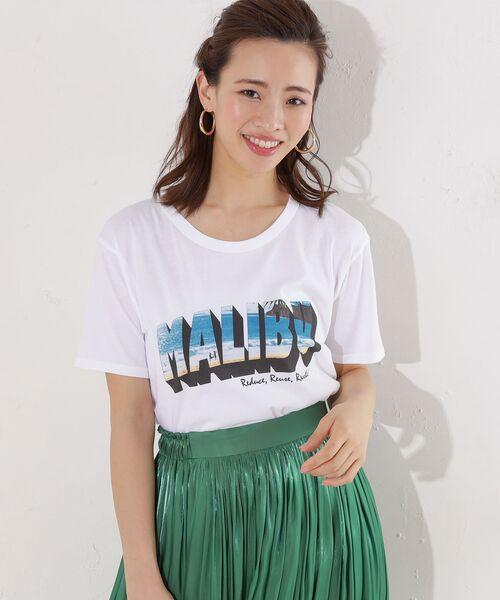 RIVE DROITE / リヴドロワ Tシャツ | 【RXMANCE(ロマンス)】malibu Tシャツ(ホワイト)