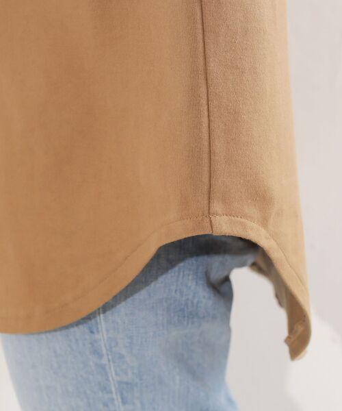 RIVE DROITE / リヴドロワ カットソー | 【完売商品予約追加!・手洗い可】BIGLOGOワイドチュニックTシャツ | 詳細16