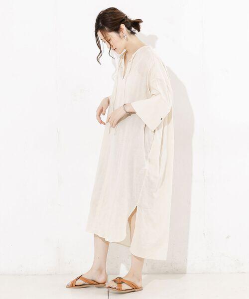 RIVE DROITE / リヴドロワ ロング・マキシ丈ワンピース   綿麻カフタンワンピース   詳細8