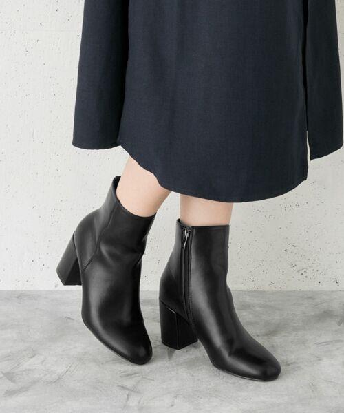 RODE SKO / ロデスコ ブーツ(ショート丈) | ARIADNA プレーンアンクルブーツ(BLACK)