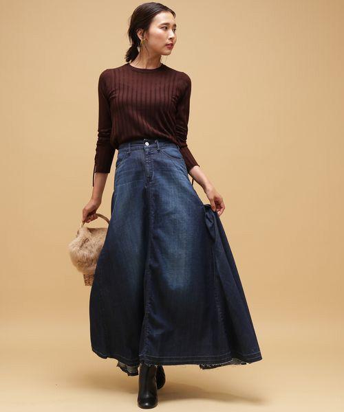 ROPE' / ロペ デニムスカート | 【woad blue別注】デニムマキシスカート | 詳細13