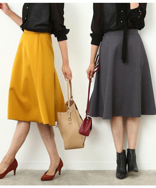 【一部予約】【InRed 10月号掲載】【Oggi10月号掲載】リバーシブルフレアースカート