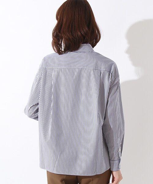 ROPE' / ロペ シャツ・ブラウス | カフス刺繍入りストライプシャツ | 詳細1