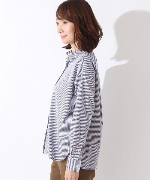 ROPE' / ロペ シャツ・ブラウス | カフス刺繍入りストライプシャツ | 詳細2