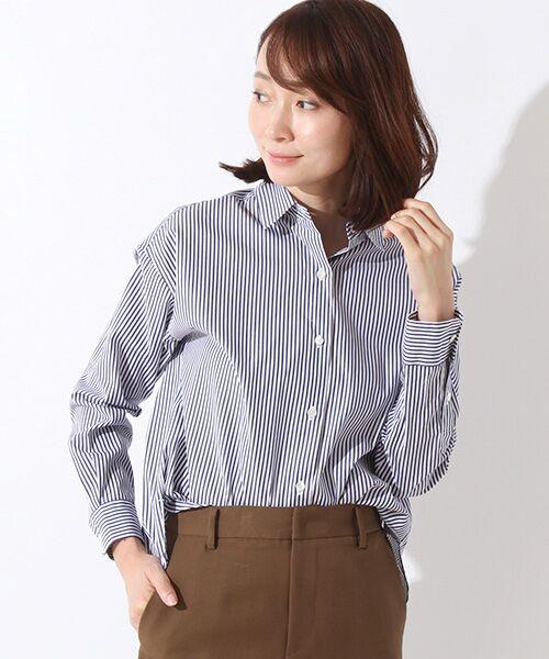 ROPE' / ロペ シャツ・ブラウス | カフス刺繍入りストライプシャツ | 詳細6