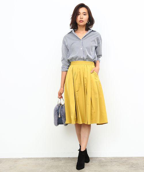 ROPE' / ロペ シャツ・ブラウス | カフス刺繍入りストライプシャツ | 詳細7