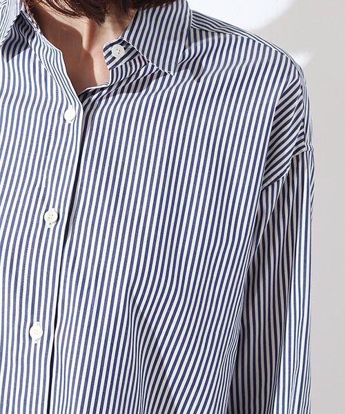 ROPE' / ロペ シャツ・ブラウス | カフス刺繍入りストライプシャツ | 詳細3