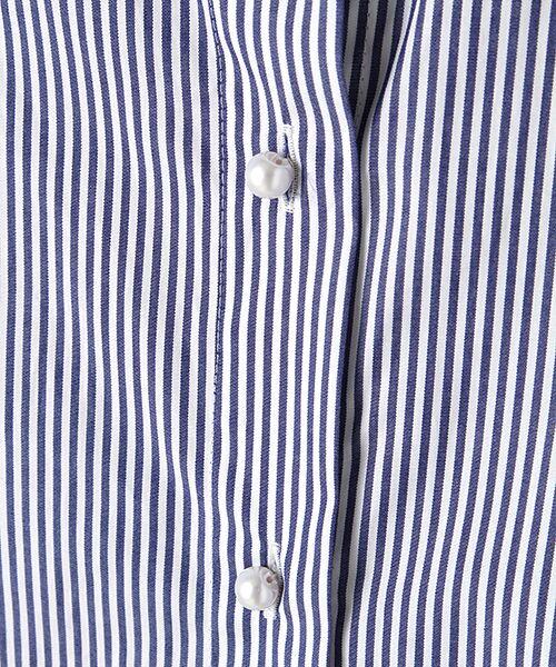 ROPE' / ロペ シャツ・ブラウス | カフス刺繍入りストライプシャツ | 詳細8