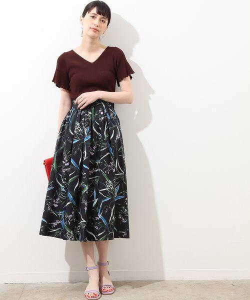 ROPE' / ロペ ロング・マキシ丈スカート | ボタニカルプリントスカート | 詳細1
