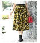 【2WAY】フラワー×ドット柄 リバーシブルスカート
