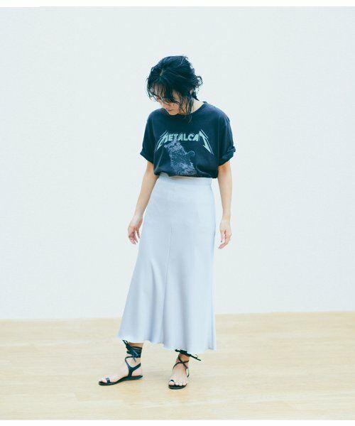 ROPE' / ロペ スカート | 【ロペ マドモアゼル×AYA KANEKO】サテンマーメイドスカート(サックス(48))