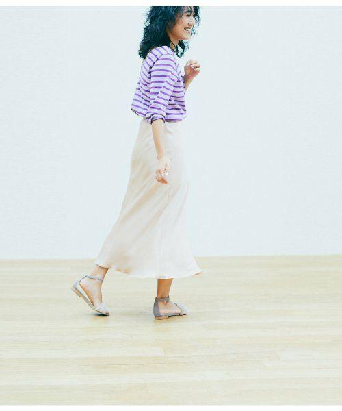 ROPE' / ロペ スカート | 【ロペ マドモアゼル×AYA KANEKO】サテンマーメイドスカート(ピンク(63))